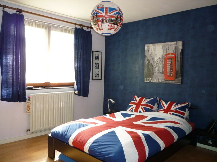 87 best images about british flag bedroom ideas on for Union jack bedroom ideas