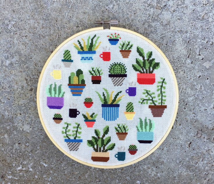 Botany - Modern cross stitch pattern PDF - Instant download by thestitchmill on Etsy https://www.etsy.com/uk/listing/496476406/botany-modern-cross-stitch-pattern-pdf