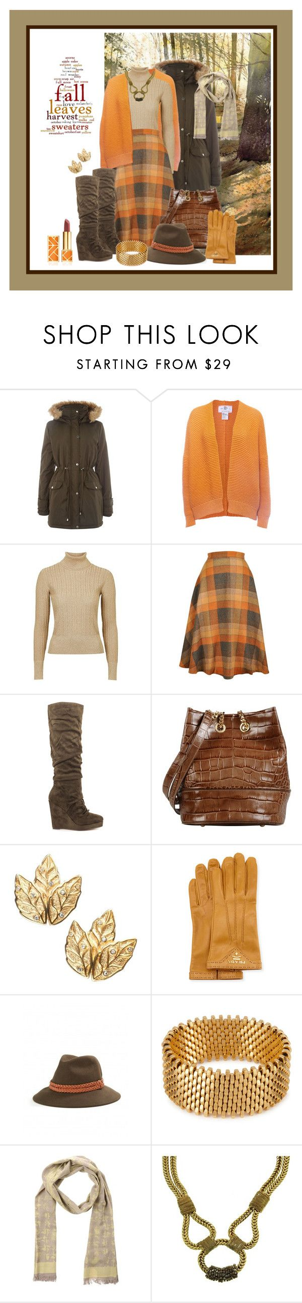 """Cool Weather Ahead - Oct. 2, 2015"" by franceseattle ❤ liked on Polyvore featuring VILA, Wool and the Gang, Topshop Unique, Michael Antonio, Jolie By Edward Spiers, Prada, Yerse, Alice Menter, Class Roberto Cavalli and Tory Burch"