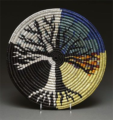Coiled Pictorial Basket by Elsie Holiday (Navajo)