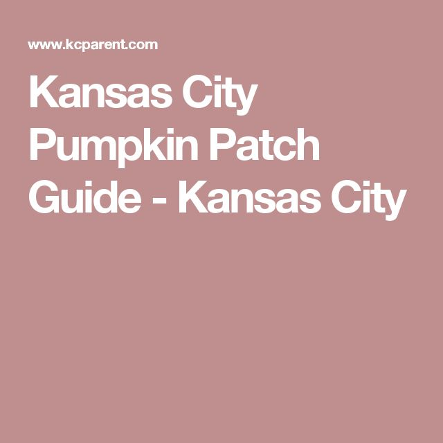 Kansas City Pumpkin Patch Guide - Kansas City