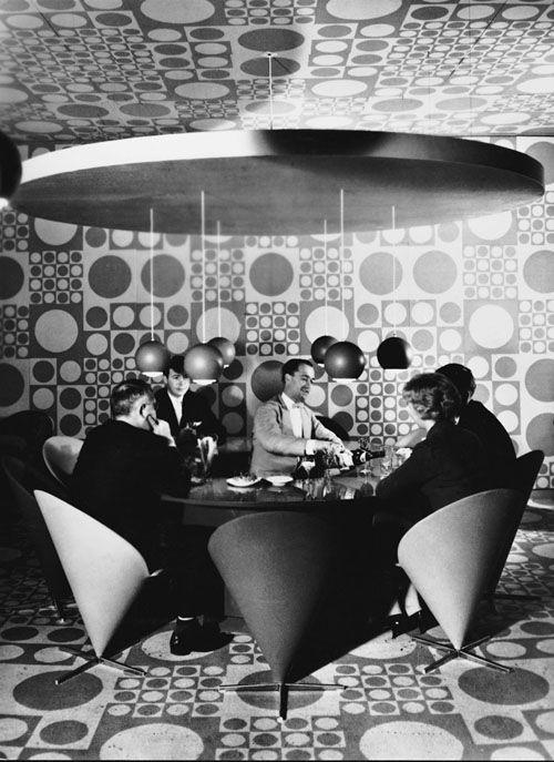 interior of the Astoria Hotel restaurant by Verner Panton (1960's)