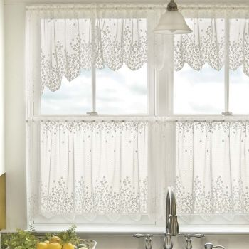 Blossom Lace Tier Curtains by Heritage Lace