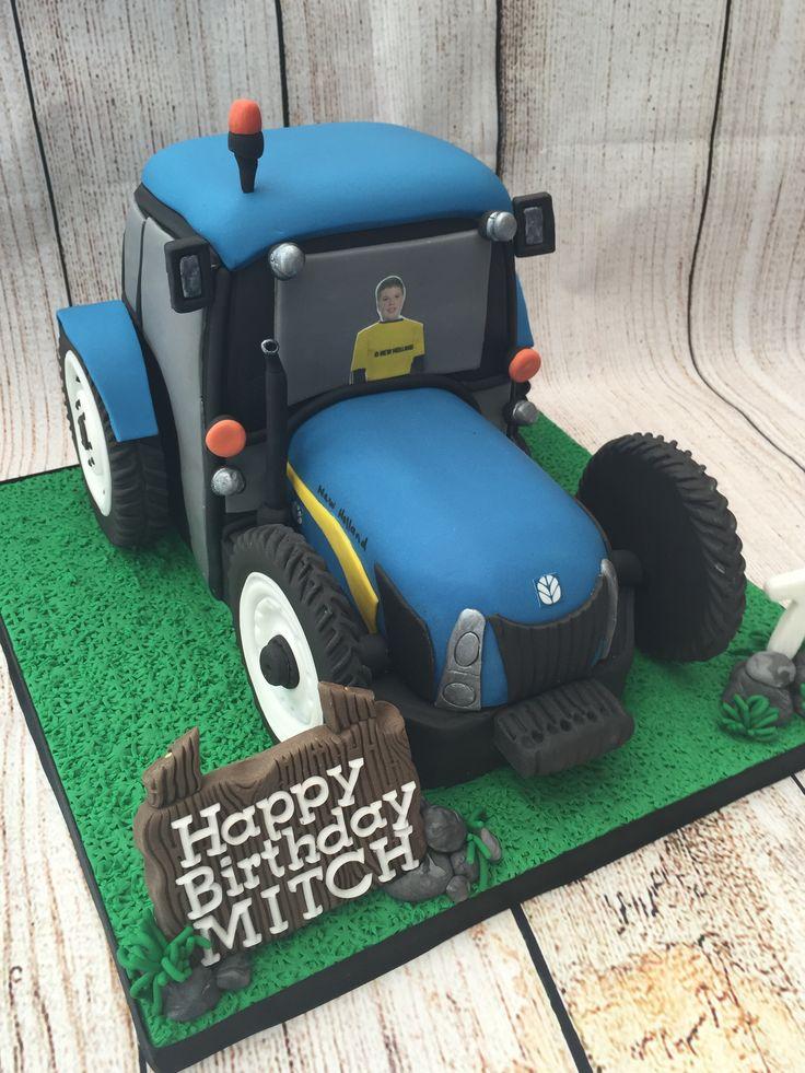 New Holland Tractor Birthday Cake