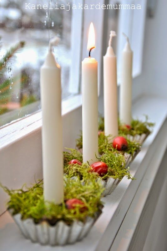Piparkakku: Kynttilöitä