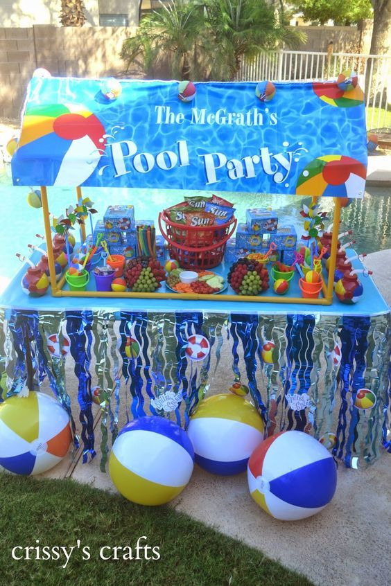 Summer vacation is not complete without a Pool Party!  It's also a great way to keep in touch with the children's school friends...