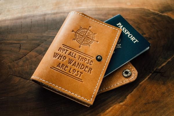 Leather Passport Case - net of rules-9 by VIDA VIDA