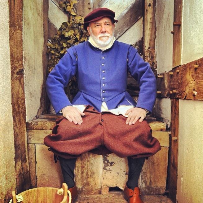 Tudor man in Little Moreton Hall's smallest room  National Trust Cheshire