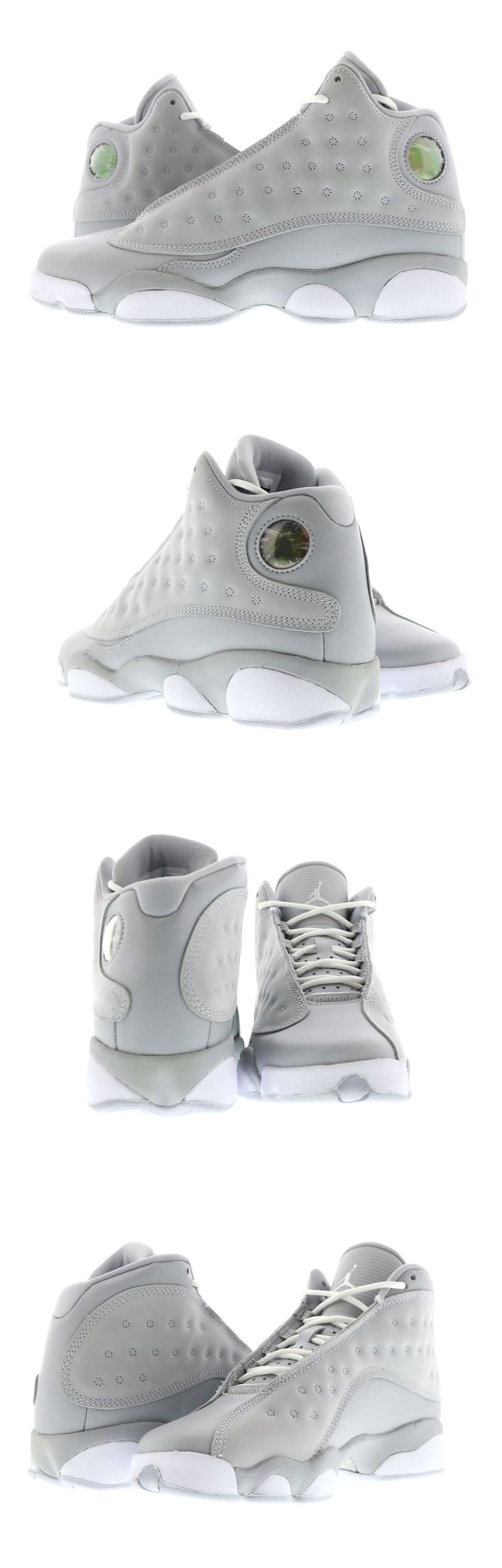 Boys Shoes 57929: Youth (Gs) Air Jordan 13 Retro Wolf Grey White-Pink 439358-018 -> BUY IT NOW ONLY: $130 on eBay!