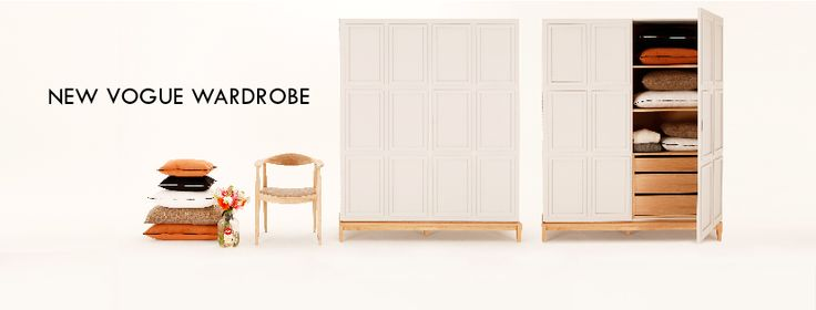 Meet our New Vogue Wardrobe - cool, sophisticated and full of character. Take a look on its refined details!