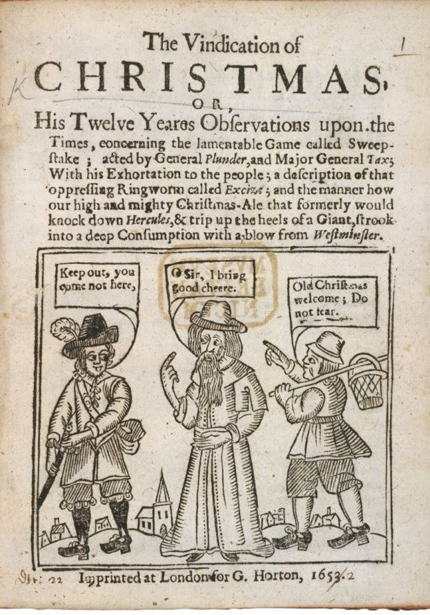 John Taylor's pamphlet The Vindication of Christmas (1652) - Bridgeman Art Library