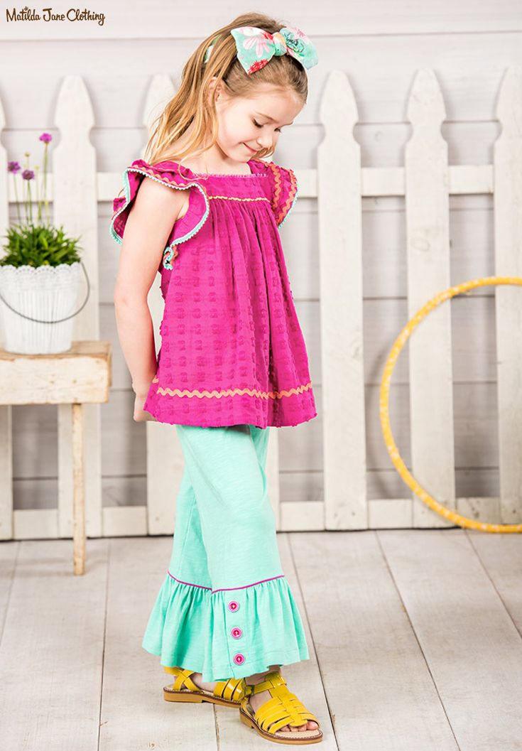 The Adventure Begins, Summer 2017: Piggyback Tunic, Freeze Dance Big Ruffles and Bow You Over Knit Bow