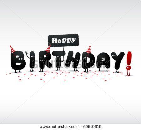 Funny Birthday card - stock vector