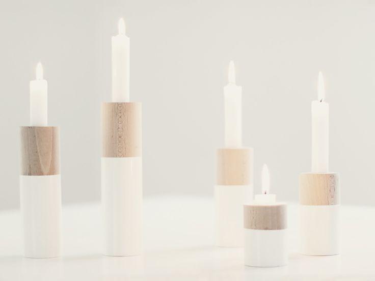 Kostenlose Anleitung: Kerzenständer aus Rundholz bauen / free diy tutorial: crafting wooden candle stands via DaWanda.com