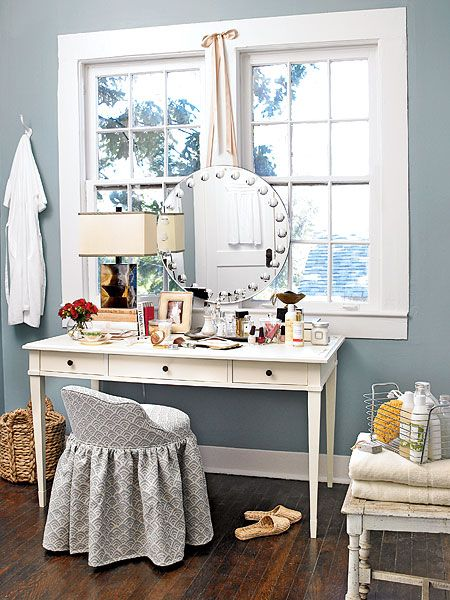 Blue Vanity Dressing Space