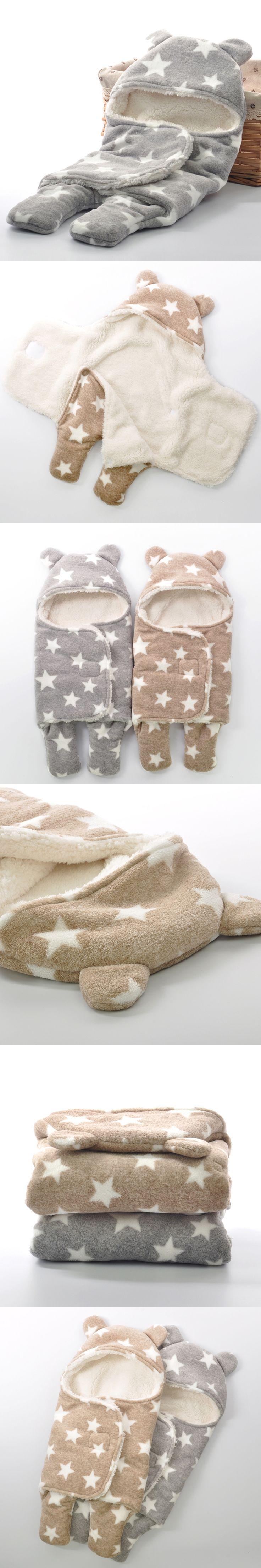 Winter Sherpa Newborn Sleepsack Swaddle 2 Ply Infant Baby Polar Fleece Swaddle Blankets Set 2 Size Baby Girl Boy Swaddle Blanket