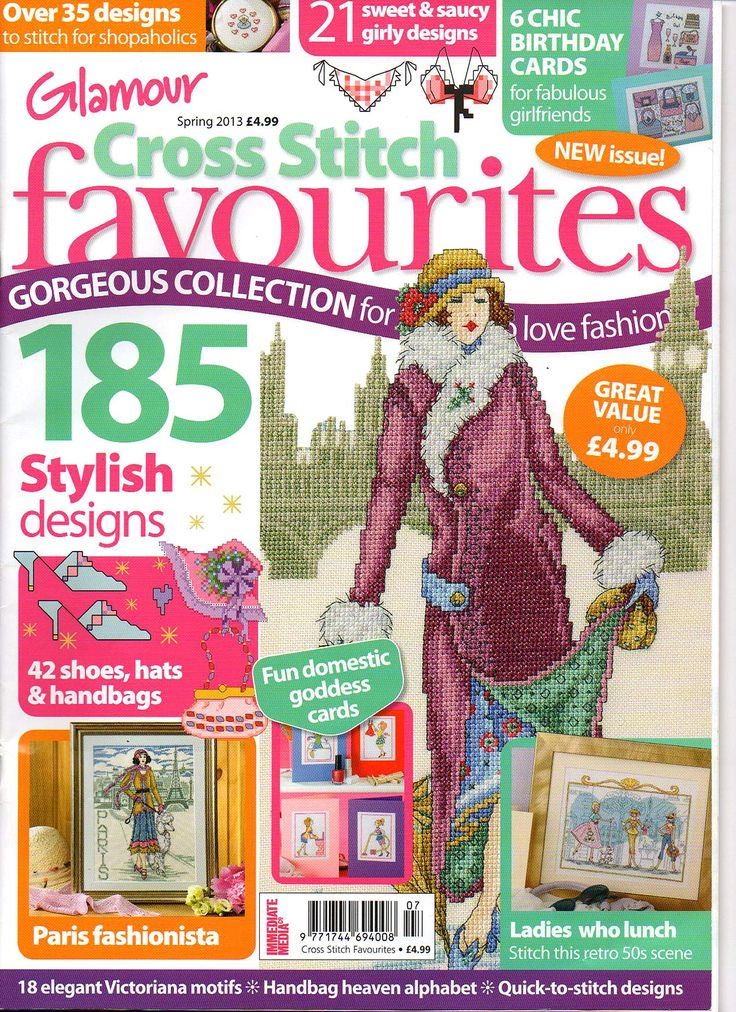 """Cross Stitch Favourites, Spr. 2013   Click on """"unnamed gallery"""" at the top of screen to see all pages.  Click on selected page and be patient for it to download."""