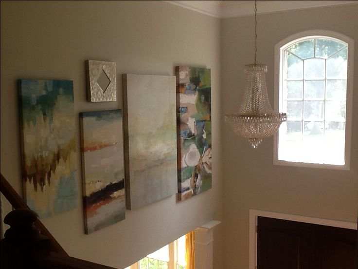Story Foyer Mirror : Two story foyer large painting gallery wall