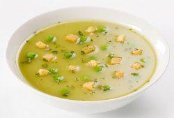 Приготовление супа-пюре с гренками