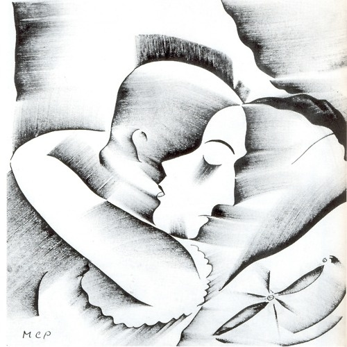 """Lovers""    ""  Love ""     by  Molnár-Cd Pál (1894-1981)"
