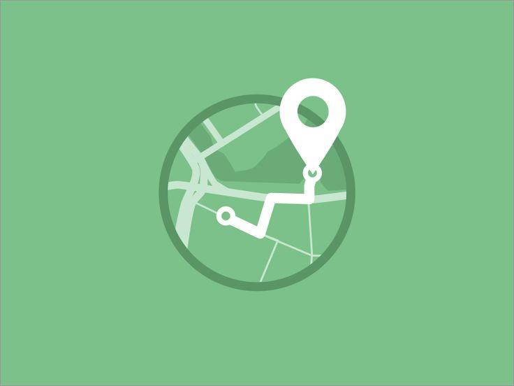 Locate by Carlos Gavina / Flat design / #flat #design #icon