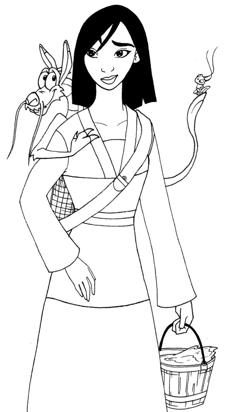 13 best Mulan ~ Disney Coloring Pages images on Pinterest | Disney ...
