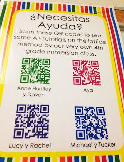 Create QR Codes of Student Demonstrations/Tutorials with the Educreations App. Display QR code tutorials for other students to scan and learn from their peers. Super cool and not hard to do at all!