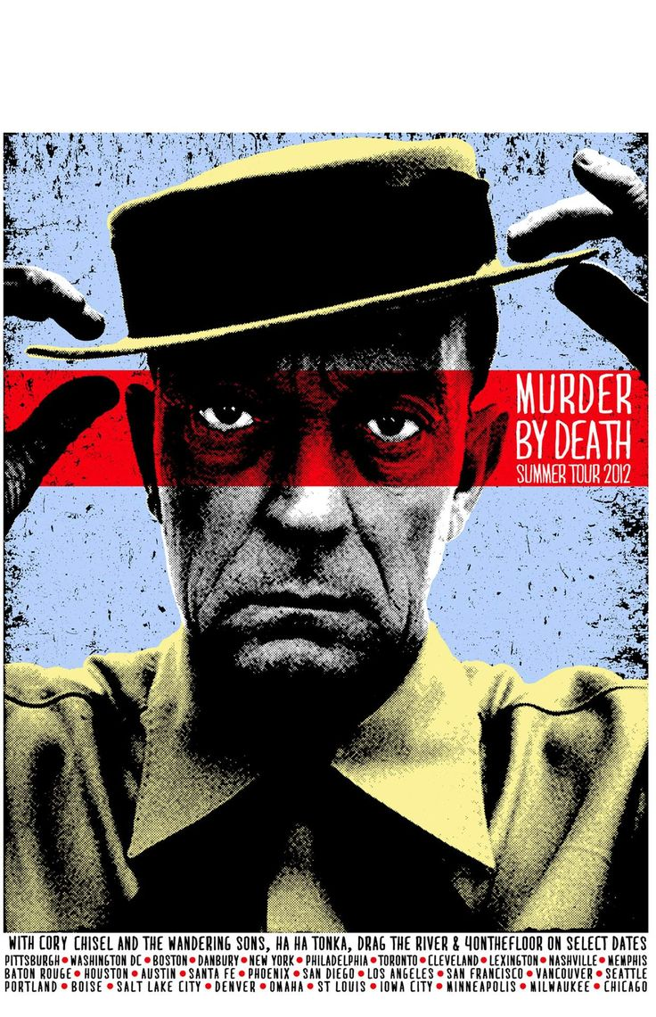 murder by death music gig posters | Tour Poster Art: Murder by Death Collection | The EngineFace
