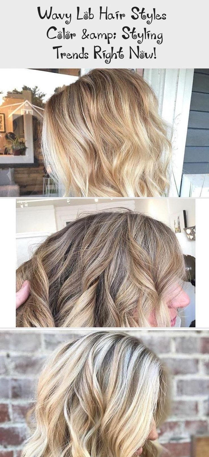 Wavy Lob Hair Styles - Color & Styling Trends Right Now! Wavy lob hairstyle are not only easy to ...