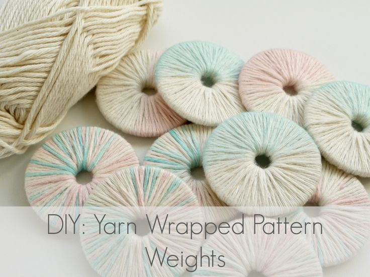 Learn how to make these yarn wrapped pattern weights at www.makery.uk