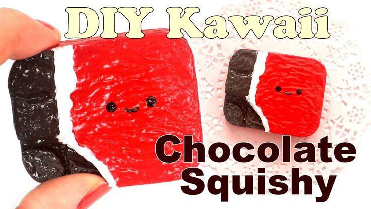 Diy Squishy Things : DIY Easy Chocolate Bar Squishy Tutorial (Make Up Sponge) DIY Squishy Pinterest Chocolate ...