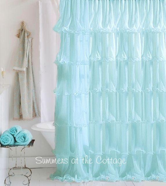 Best 25 White Ruffle Shower Curtain Ideas On Pinterest