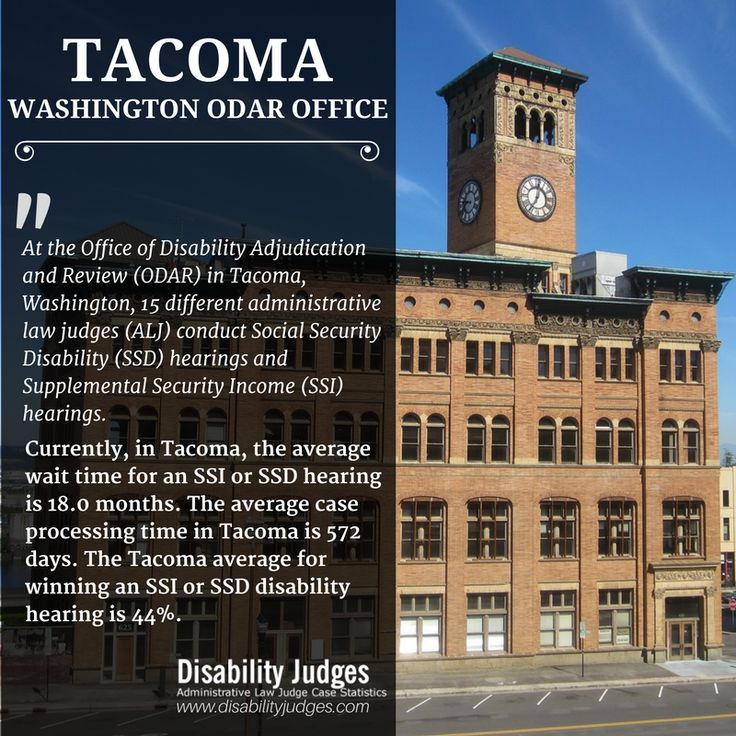 Know the detailed information about the hearing offices and the administrative law judges (ALJ) that work in TACOMA, WASHINGTON Visit: https://www.disabilityjudges.com/state/washington/tacoma #TACOMAWASHINGTONODAROffices #AdministrativeLawJudgesTACOMAWASHINGTON #TACOMAWASHINGTONDisability #ODAR