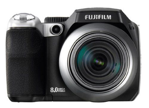fuji s8000fd FinePix 8MP Digital Camera,18x optical zoom,Dual Image Stabilization,2.5-inch LCD ,electronic viewfinder,Face Detection with new Red-Eye Reduction System. 8-megapixel CCD sensor captures enough detail for photo-quality 16 x 22-inch prints. 18x optical zoom; Dual Image Stabilization. 2.5-inch LCD screen; electronic viewfinder. Face Detection with new Red-Eye Reduction System. Stores images on xD or SD memory cards (not included).