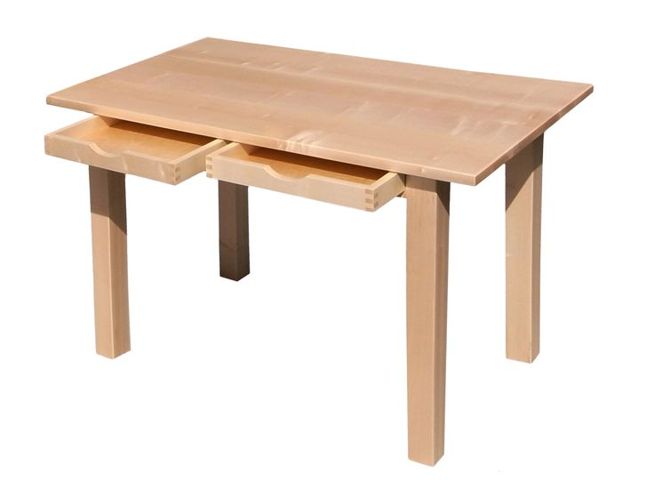 Eleganter Schreibtisch ist aus Ahorn © www.buchenblau.de