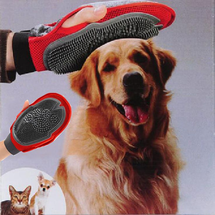 Pet Dog Cat Shedding Massage Glove Grooming Hair Bath Cleaner Removal Brush Comb #Unbranded