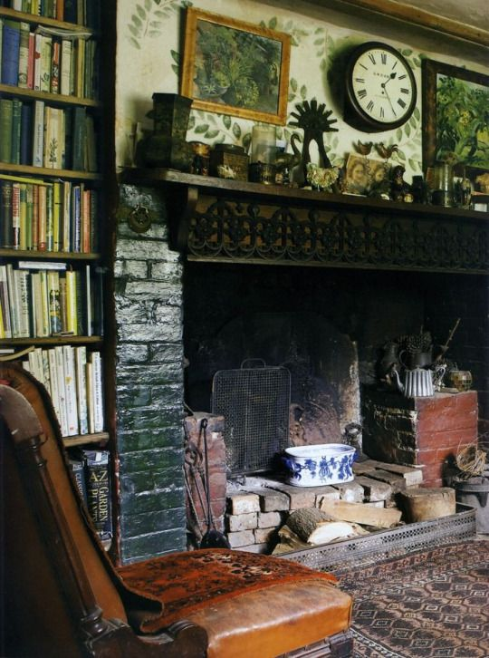 English Cottage Cottage Interiors Cottage Fireplace