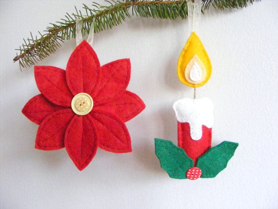 PDF pattern Set of two Christmas tree ornaments by iManuFatti