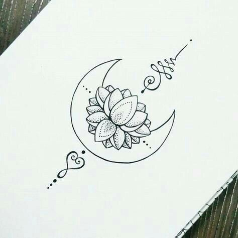 Tatto Ideas 2017 – Image result for crescent mandala moon with unalome