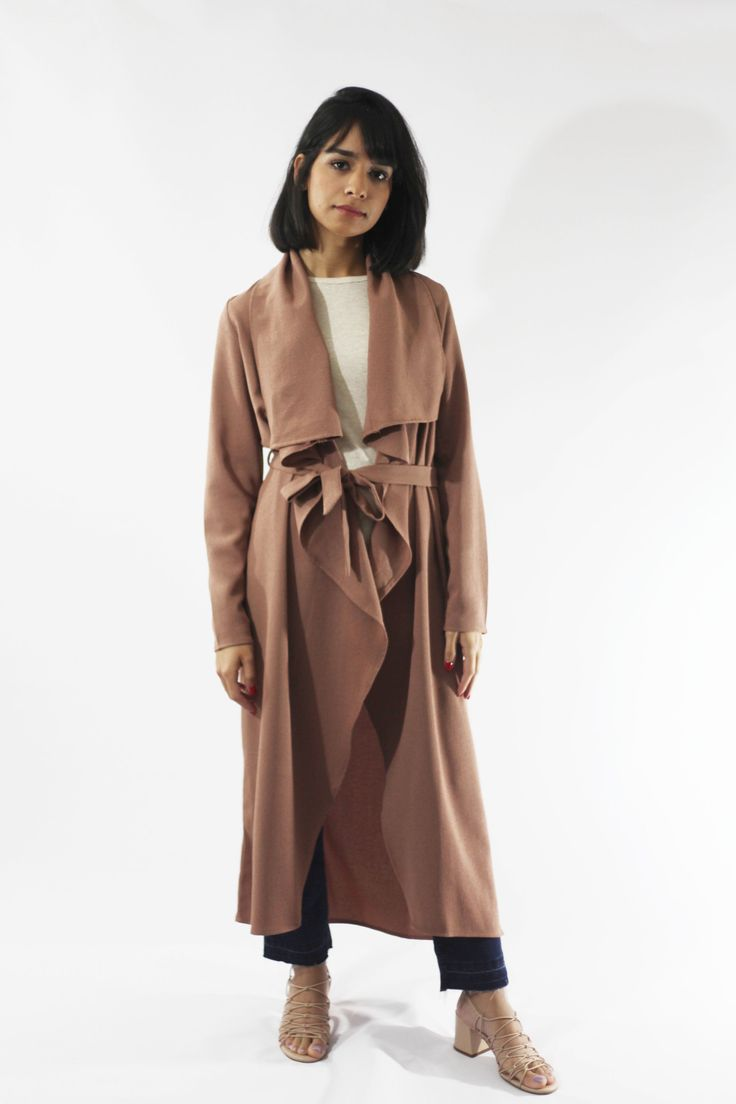 Dusty Rose Trench