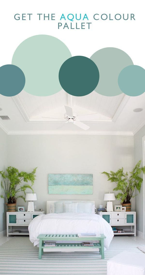 Aqua Colour Pallet - guest room/office
