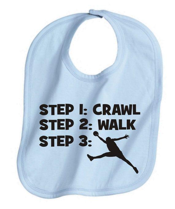 crawl walk basketball cute custom  baby infant by KIDSROCKCLOTHING, $6.49
