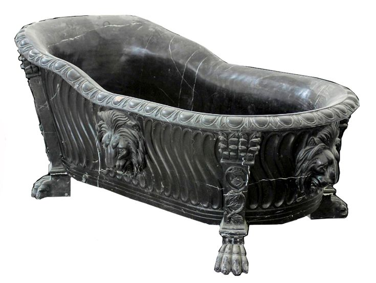 forest black lion clawfoot tub hand carved black marble
