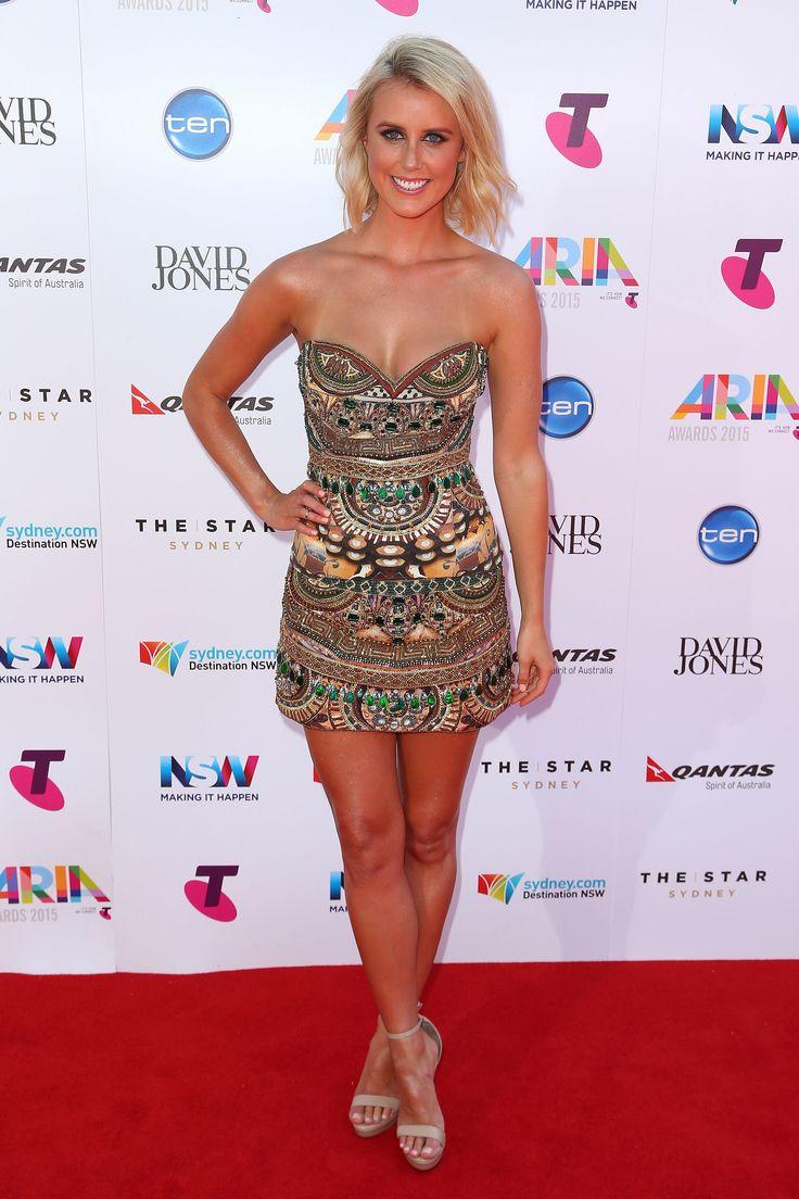 Olivia Phyland's bejeweled mini dress