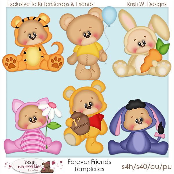 Forever Friends -Exclusive to Store {CU} KittenScraps & Friends Store