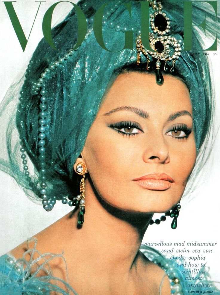 Sophia . Vogue UK, July 1965.LOVE IT..color is gorgeous for her.. #vintage #hats ✿✿ڿڰۣ(̆̃̃-- ♥ Donna-NYrockphotogirl