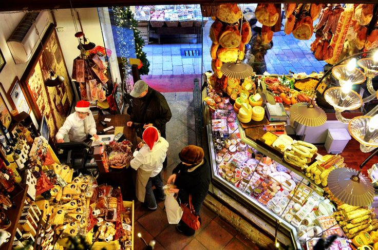 Christmas in the deli in Italy