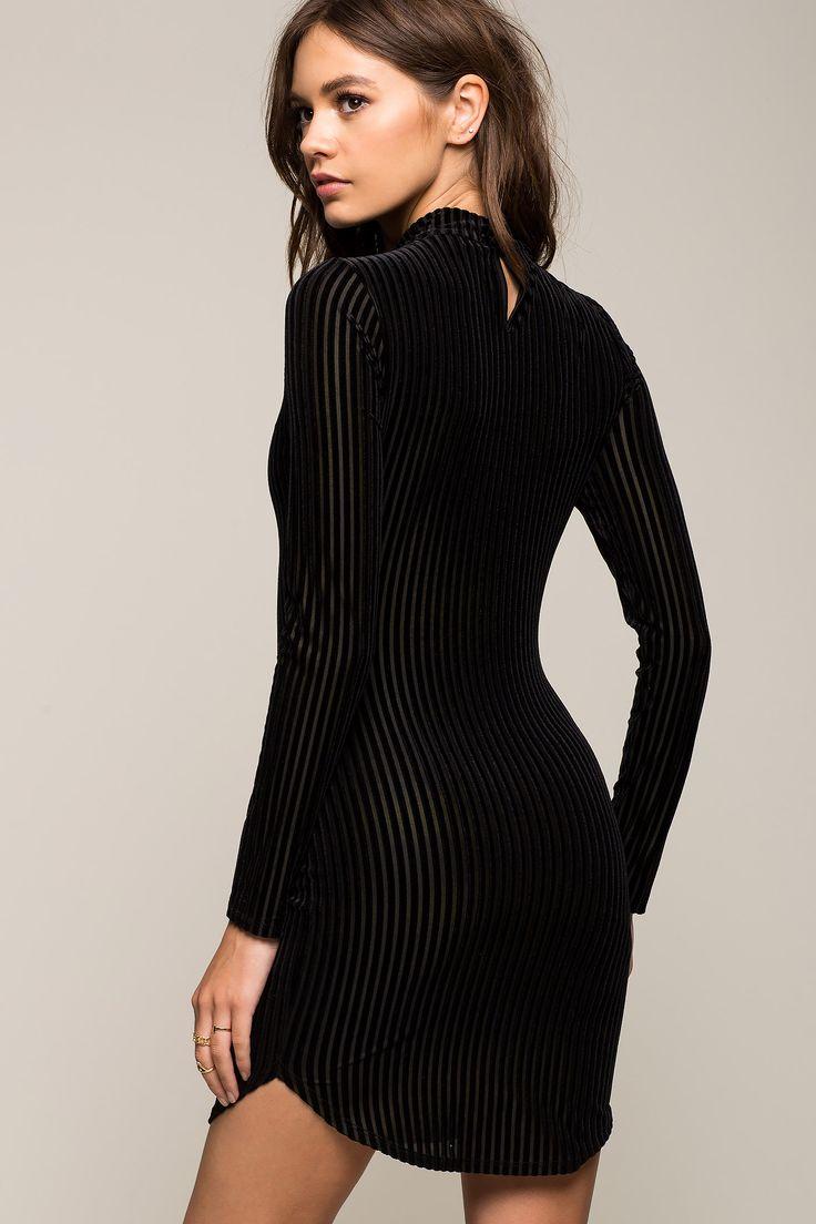 Women's Bodycon Dresses | Velvet Ropes Bodycon Dress | A'GACI