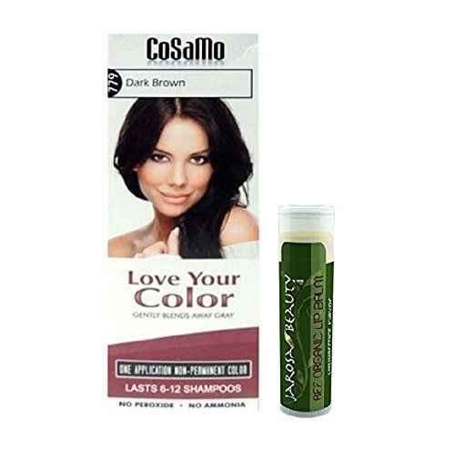 Love - Your Color Cosamo - Non Permanent Hair Color, #779 Dark Brown Plus One Jarosa Beauty Bee Organic Peppermint Lip Balm 100% All Natural Deep Moisturizing Usda Certified Organic  //Price: $ & FREE Shipping //     #hair #curles #style #haircare #shampoo #makeup #elixir