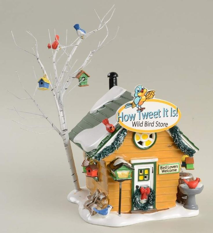 Department 56 SNOW VILLAGE How Tweet It Is! Wild Bird Store 10275607